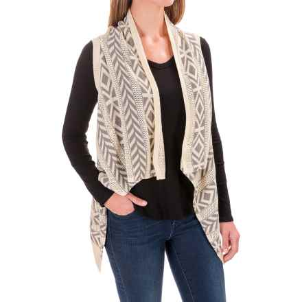 Woolrich Ponsford Long Sweater Vest (For Women) in Gray Multi - Closeouts