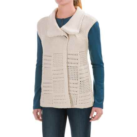 Woolrich Poppy Ridge Sweater Vest (For Women) in Natural - Closeouts