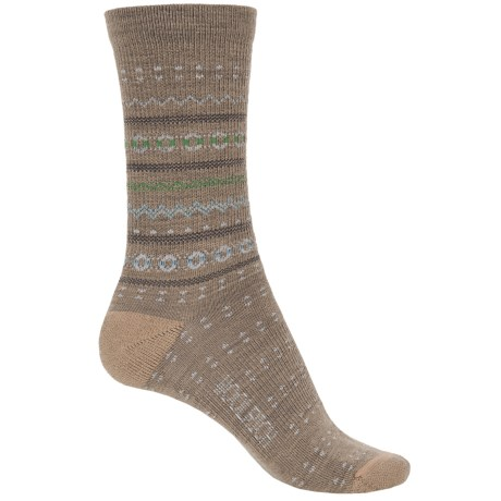 Woolrich Print Wool Socks - Merino Wool, Crew (For Women) in Khaki