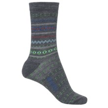 Woolrich Print Wool Socks - Merino Wool, Crew (For Women) in Mid Grey - Closeouts