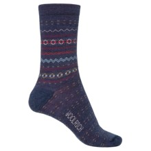 Woolrich Print Wool Socks - Merino Wool, Crew (For Women) in Navy - Closeouts