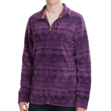 Woolrich Printed Andes Jacket - Fleece (For Women) in Eggplant - Closeouts