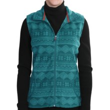 Woolrich Printed Andes Vest - Fleece (For Women) in Deep Atlantic - Closeouts
