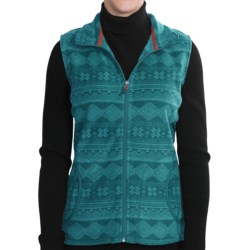 Woolrich Printed Andes Vest - Fleece (For Women) in Sapphire