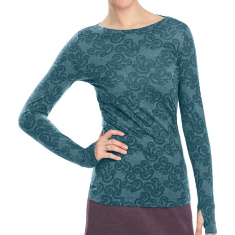 Woolrich Printed Journey Shirt - Long Sleeve (For Women) in Atlantic