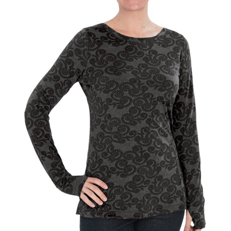 Woolrich Printed Journey Shirt - Long Sleeve (For Women) in Black