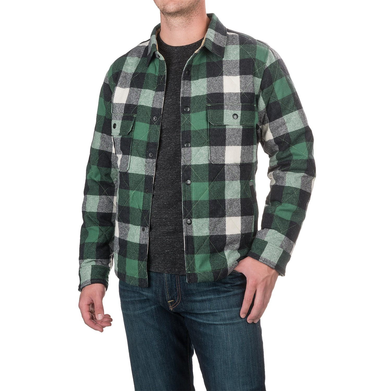 Woolrich Quilted Mill Shirt Jacket (For Men) : mens quilted shirt - Adamdwight.com