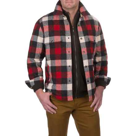 Woolrich Quilted Mill Shirt Jacket - Insulated (For Men) in Old Red - Closeouts