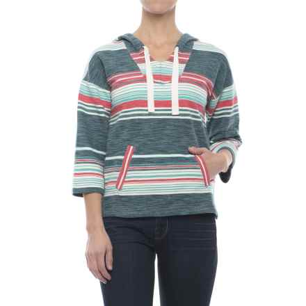 Woolrich Quinn River Eco Rich Shirt - Cotton, 3/4 Sleeve (For Women) in Harbor - Closeouts