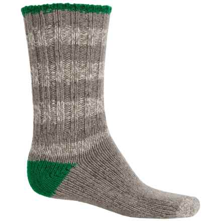 Woolrich Ragg Big Woolly Socks - Merino Wool, Mid Calf (For Men) in Grey Heather/Green - Closeouts