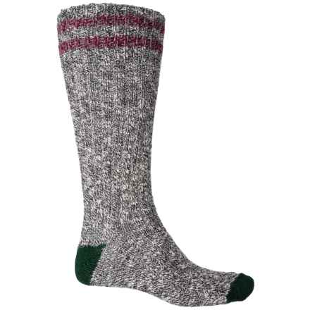 Woolrich Ragg Camp Socks - Cotton, Crew (For Men) in Black/Hunter - Closeouts