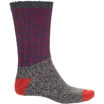 Woolrich Ragg Color-Block Socks - Crew (For Women) in Blue Flame - Closeouts