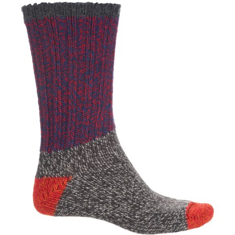 Woolrich Ragg Color-Block Socks - Crew (For Women) in Blue Flame