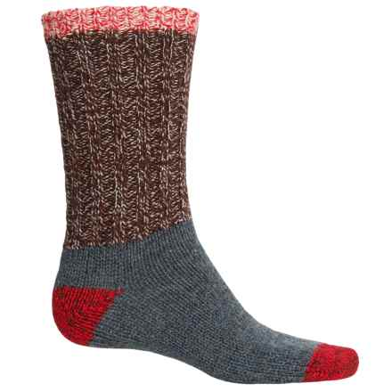 Woolrich Ragg Color-Block Socks - Crew (For Women) in Copper - Closeouts