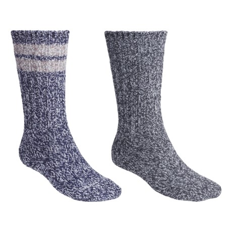 Woolrich Ragg Socks - 2-Pack, Midweight, Crew (For Men) in Charcoal/Blue