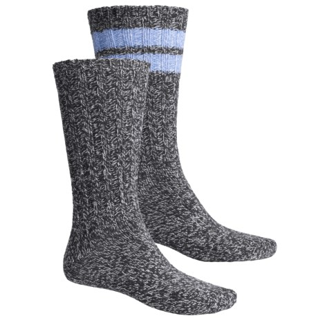 Woolrich Ragg Socks - 2-Pack, Midweight, Crew (For Men) in Charcoal