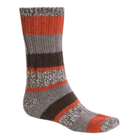 Woolrich Ragg Stripe Socks - Merino Wool, Heavyweight, Crew (For Men) in Clay/Rust - Closeouts