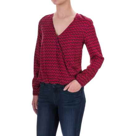 Woolrich Raku Printed Wrap Blouse - Rayon, Long Sleeve (For Women) in Old Red Bird - Closeouts