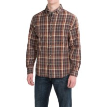 Woolrich Red Creek Cotton Shirt - Long Sleeve (For Men) in Dark Plum - Closeouts
