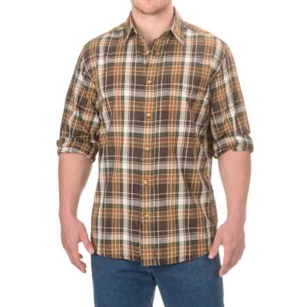 Woolrich Red Creek Cotton Shirt - Long Sleeve (For Men) in Dark Walnut - Closeouts