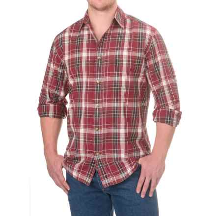 Woolrich Red Creek Cotton Shirt - Long Sleeve (For Men) in Deep Ruby - Closeouts