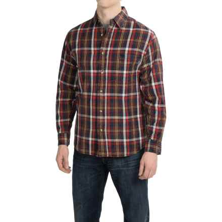 Woolrich Red Creek Cotton Shirt - Long Sleeve (For Men) in Old Red - Closeouts