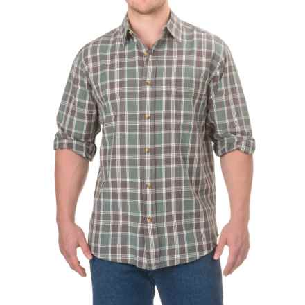 Woolrich Red Creek Cotton Shirt - Long Sleeve (For Men) in Silver Pine - Closeouts