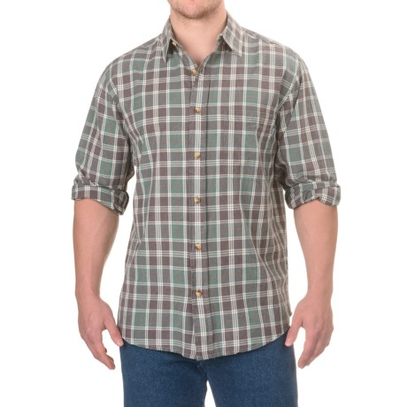 Woolrich Red Creek Cotton Shirt - Long Sleeve (For Men) in Silver Pine