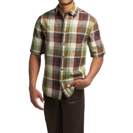 Woolrich Red Creek Plaid Shirt - Short Sleeve (For Men) in Chimney - Closeouts