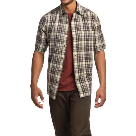 Woolrich Red Creek Plaid Shirt - Short Sleeve (For Men) in Field Gray - Closeouts