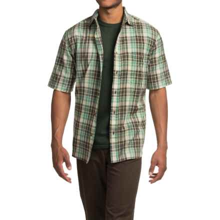Woolrich Red Creek Plaid Shirt - Short Sleeve (For Men) in Olive - Closeouts