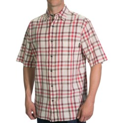 Woolrich Red Creek Plaid Shirt - Short Sleeve (For Men) in Ribbon Red Check