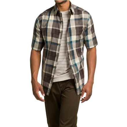 Woolrich Red Creek Plaid Shirt - Short Sleeve (For Men) in Slate - Closeouts