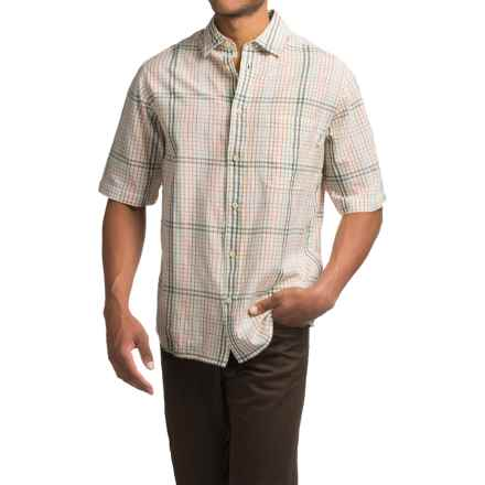 Woolrich Red Creek Plaid Shirt - Short Sleeve (For Men) in White - Closeouts