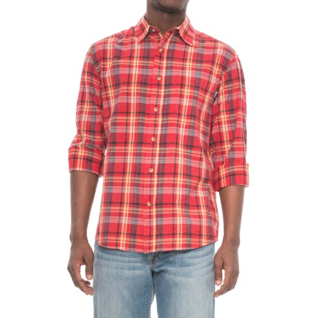 Woolrich Red Creek Shirt - Cotton, Long Sleeve (For Men) in Old Red
