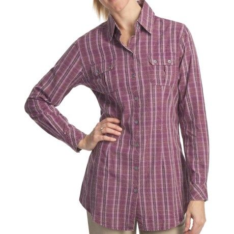 Woolrich Red Creek Tunic Shirt - Long Sleeve (For Women) in Mulberry