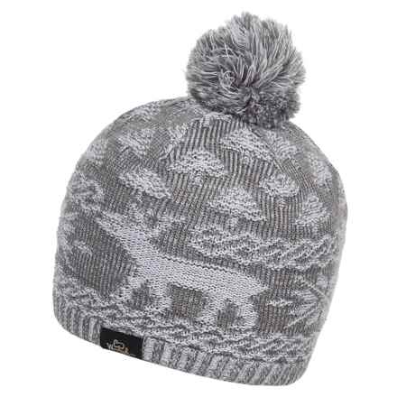 Woolrich Reindeer Beanie (For Men and Women) in Gray - Closeouts