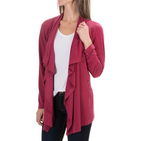 Woolrich Rendezvous Cardigan Sweater (For Women) in Wildberry