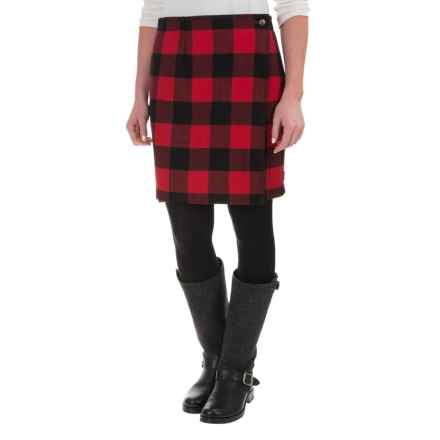 Woolrich Richville Buffalo Wrap Skirt - Wool Blend (For Women) in Old Red - Closeouts