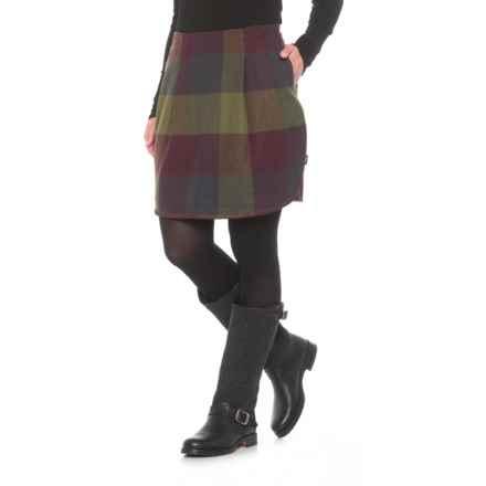 Woolrich Richville II Wool Skirt (For Women) in Wine. - Closeouts