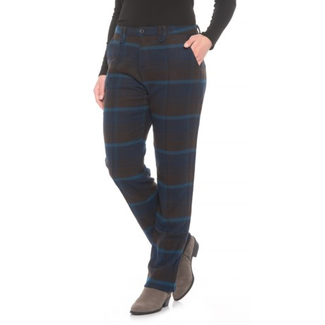Woolrich Richville Plaid Pants - Slim Fit (For Women) in Deep Indigo