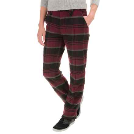 Woolrich Richville Plaid Pants - Slim Fit (For Women) in Fig - Closeouts