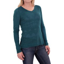 Woolrich Ricketts Glen Burnout T-Shirt - Long Sleeve (For Women) in Mineral Blue - Closeouts