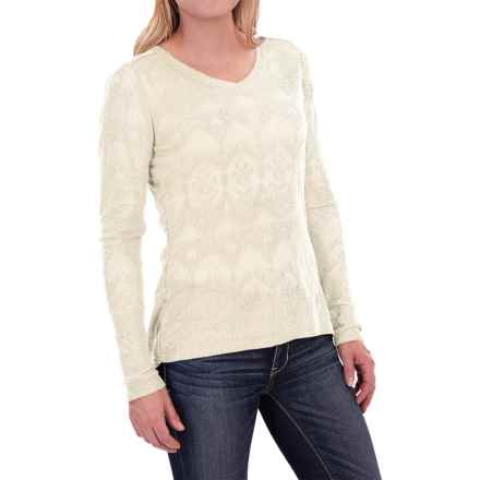 Woolrich Ricketts Glen Burnout T-Shirt - Long Sleeve (For Women) in Wool Cream - Closeouts