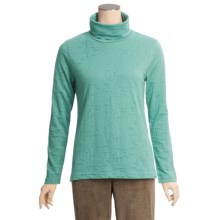 Woolrich Ridgeway Burnout Turtleneck - Cotton Jersey, Long Sleeve (For Women) in Agate - Closeouts
