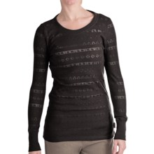 Woolrich River Birch Thermal T-Shirt - Burnout, Long Sleeve (For Women) in Black - Closeouts