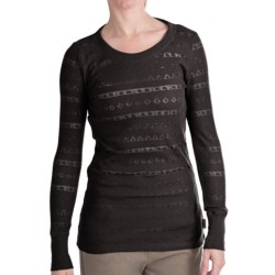 Woolrich River Birch Thermal T-Shirt - Burnout, Long Sleeve (For Women) in Winter White