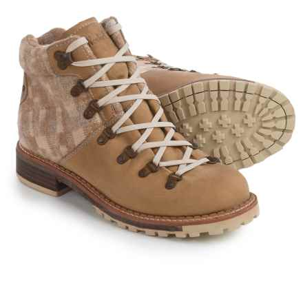 Woolrich Rockies Hiker Boots - Leather-Wool (For Women) in Quill/Camo Wool - Closeouts