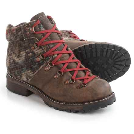 Woolrich Rockies Hiker Boots - Leather-Wool (For Women) in Stucco/Blanket Wool - Closeouts