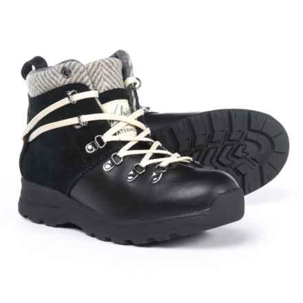 Woolrich Rockies II Hiking Boots - Waterproof, Leather (For Women) in Black/Herringbone - Closeouts